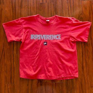 Vintage 90s Nike Single Stitch IRREVERENCE Tee